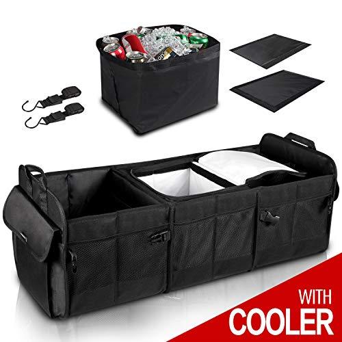 GEEDAR Trunk Organizer with Cooler Large Trunk Organizer with Built-in Leak-Proof Cooler Bag for SUV Toyota Hyundai Mazda KIA Subaru Accessories (Trunk Organizer Large)