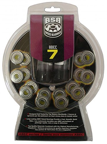 BSB Skate Wheel ABEC-9 Bearings - Set of 16 by Boss