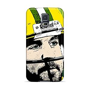 Scratch Protection Cell-phone Hard Cover For Samsung Galaxy S5 With Unique Design Fashion Green Bay Packers Series JacquieWasylnuk
