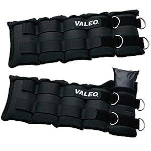 Valeo 20 Lb. Adjustable Ankle/Wrist Weights, Black, Pair