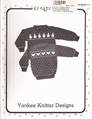 Yankee Knitter Designs Knitting Pattern #2 Heart & Doll Sweaters