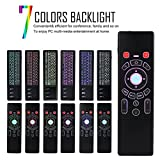 Mini Fly Air Mouse T6-2L 2.4G Wireless Keyboard Remote Control Backlit For Android TV with 7 Colors (Black)