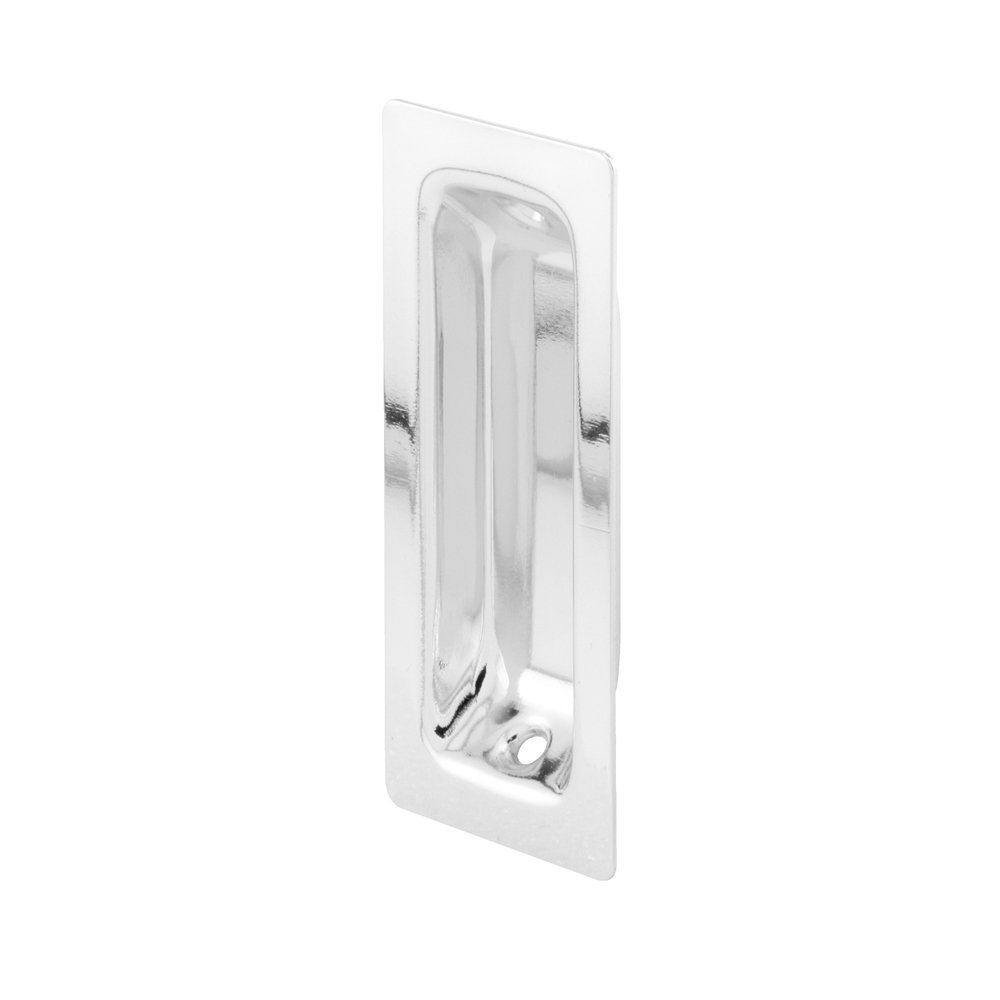 Slide-Co 162590 Closet Door Oblong Pull with 1-3//8-Inch Solid Brass Satin Nickel, Pack of 2