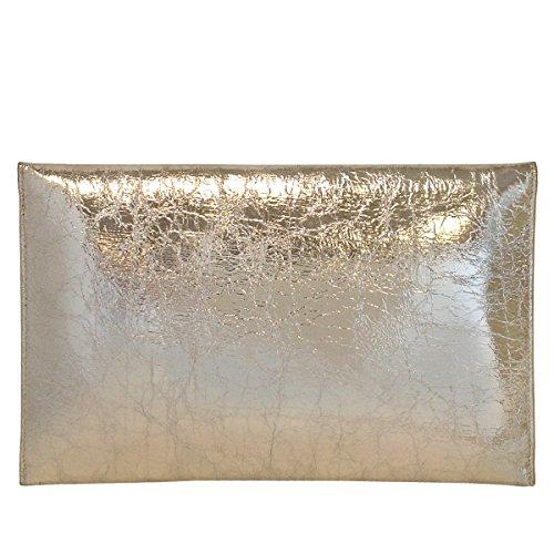 Clutch Crushed Clutch Envelope Envelope Metallic Crushed Gold Gold Crushed Metallic Awqd8p