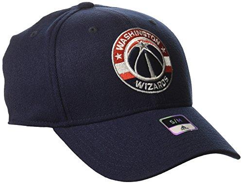 Nba Washington Wizards Mens Structured Flex Cap  Small Medium  Navy