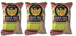 Siete Lime Flavor Tortilla Chips, Grain Free, Paleo, Vegan - 5 Ounce (3 Pack)