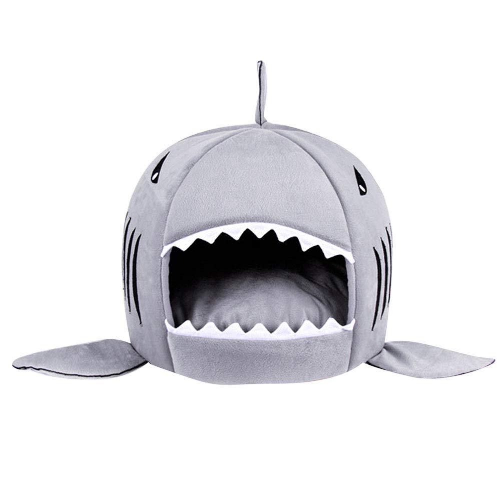 JEELINBORE Práctica Casa de Mascotas Ronda Tiburón Cama para Perros y Gatos (Gris, XS: 30 * 28cm): Amazon.es: Hogar