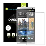 GreatShield(™) All New HTC One (M8) 2014 [DUEL Mark II] Hard Coating Anti-Glare [MATTE Finish] Screen Protector Shield Flim - Lifetime Replacement Warranty (3 pack)