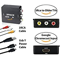 XPACK Google Chromecast HDMI to 3RCA Adapter – Connect Google Chromecast To Your Old TV with Composite AV Converter for Chromecast, Chromecast Ultra