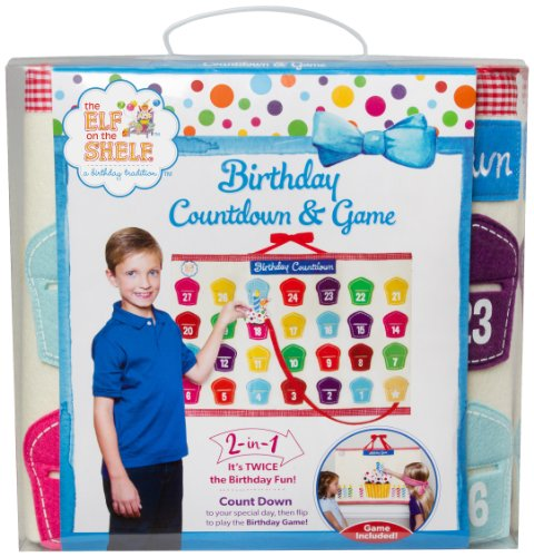 Elf on the Shelf Birthday Advent Calendar Countdown and Game -