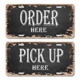 """: ORDER here and PICK UP here Sign Vintage 6""""x 12"""" Car License Auto Plate"""