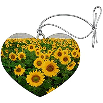 Amazon.com: Graphics and More Field of Sunflowers Wood ...