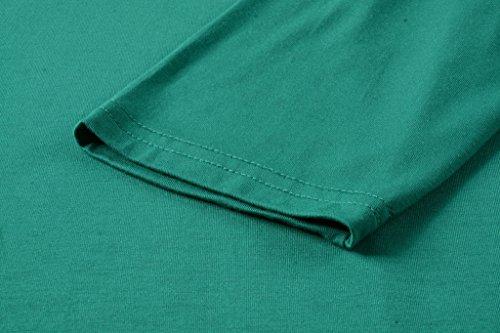 LARACE Women 3/4 Sleeve Tunic Top Loose Fit Flare T-Shirt(3X, Deep Green) by LARACE (Image #6)
