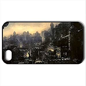 Persian Fort - Case Cover for iPhone 4 and 4s (Watercolor style, Black)