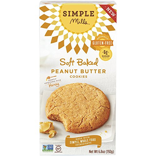 Simple Mills Soft Baked Cookies, Peanut Butter, Naturally Gluten Free, 6.8 oz