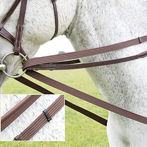 (Shires Cotton Web Draw Reins - Brown)