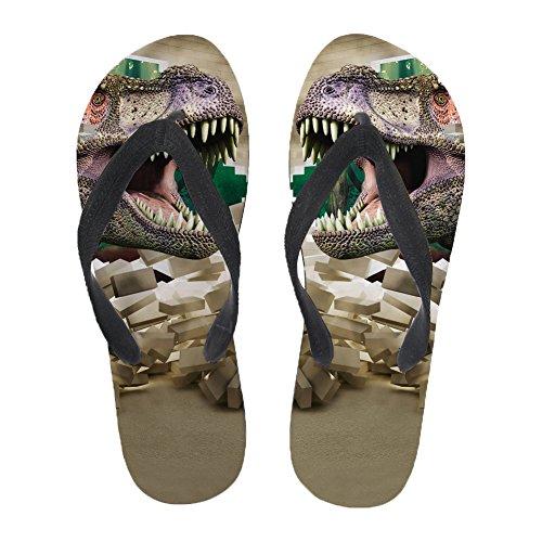 3D Women Slipper Non Flip Coloranimal Flats Home Slip for Flops Animal Printed Rubber Dinosaur dWqwSwY6