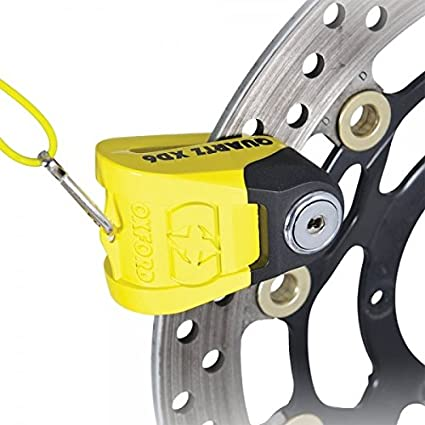 Oxford Quartz XD6 High Security Motorcycle Disc Lock Yellow//Black 6mm Pin