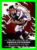 2007 Topps Red Hot Rookies #3 Adrian Peterson MINNESOTA VIKINGS OKLAHOMA SOONERS Signed 2017 with NEW ORLEANS SAINTS