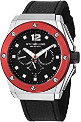 Stuhrling Original Men's Multifunction Leather Strap Watch GP12448