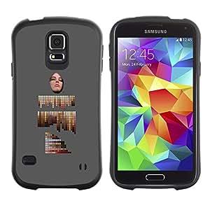 LASTONE PHONE CASE / Suave Silicona Caso Carcasa de Caucho Funda para Samsung Galaxy S5 SM-G900 / abstract painting artist palette grey