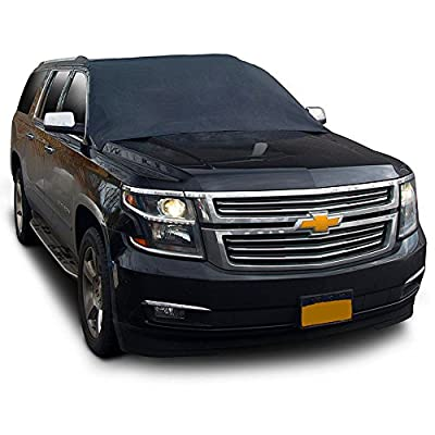 """Car Windshield Snow Cover,With Magnetic Edges,Keeps Ice & Snow Off, 60""""x49"""",Fit for Most Vehicle,Save Time"""
