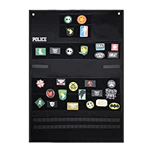 SHANGRI-LA Tactical Velcro Patch Panel Badge Holders & Morale Patches/Military Patch Holder Board Hook & Loop Patch Panel/Sports Fan Sleeve Patches(Black)