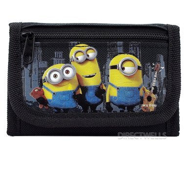 Licensed Universal Fit - Despicable Me Minions Authentic Licensed Trifold Wallet (Black)