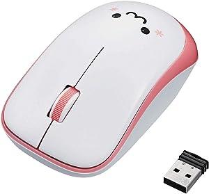 ELECOM Wireless 3 Button Mouse, IR Sensor, Symmetric Design/Power Saving/Pink/M-IR07DRPN