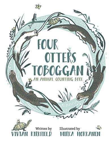 Four Otters Toboggan: An Animal Counting -