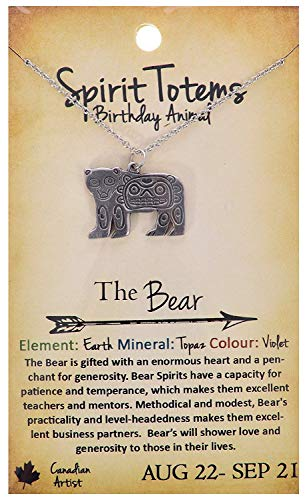 Shag Wear Spirit Totems Birthday Animal Pendant Necklace (Bear Pendant)