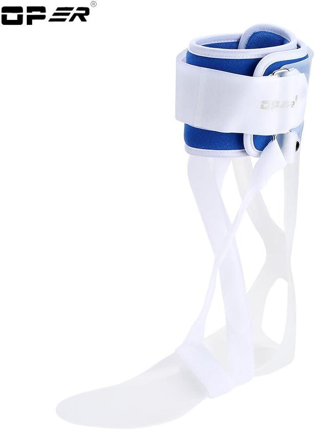 Abrazadera para pies caídos, Compresión de la férula con soporte para pies caídos para la recuperación de lesiones, ortesis la caída del pie, férula ortodoncia ortopédica, Aprobado por FDA (Left M)