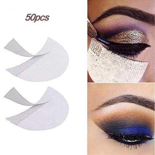 LKE 50 Pcs Eyeshadow stencils Pad for Lash Enhancers & Primers Professional Lint Free Under Eye Eyeshadow Gel Pad Patches For Eyelash Extensions/Lip lashes mat