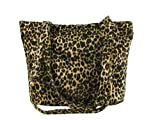 Loni Womens Smart Animal Print Faux Fur Tote/Shoulder Bag in leopard