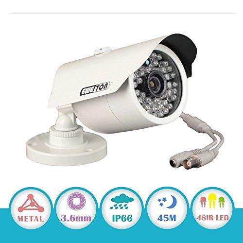 EWETON 1080P Hybrid Bullet Security Camera, 2.0 Megapixel HD 4-in-1 TVI/CVI/AHD/CVBS Waterproof Outdoor...