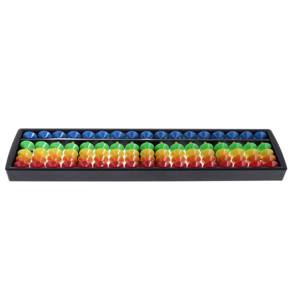 Idea Regalo #3 17 branelli MagiDeal Plastica Abaco Strumento di Aritmetico Matematica Giocattolo per Bambini