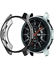 Jasinber Soft TPU Scractch-Resist Protective Cover Case for Samsung Galaxy Watch 46mm / Gear S3 Frontier (Black)