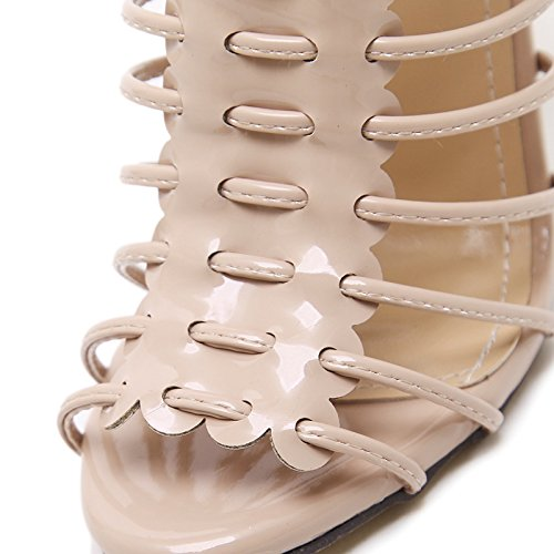 Zapatos Botas Sexy Las de Temperamento Fresco Golden Pescado Correa ahuecó Moda YMFIE señoras Alta Sandalias de Boca Tacones Toe Verano pf6fwOx8