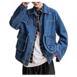 Men's Junior Autumn Casual  Jean Jacket Coat