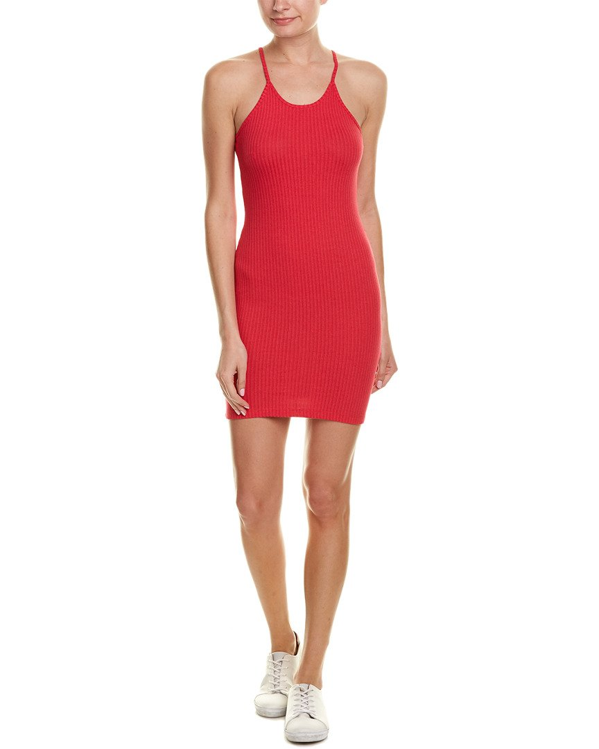 French Connection Women's Tommy Rib Dress, Watermelon Mini, 10