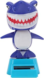Amosfun Solar Dancing Toys Bobble Head Toy Shark Doll Animal Dancing Figure Toy Car Dashboard Decorations Ornaments Home Table Centerpieces Decoration