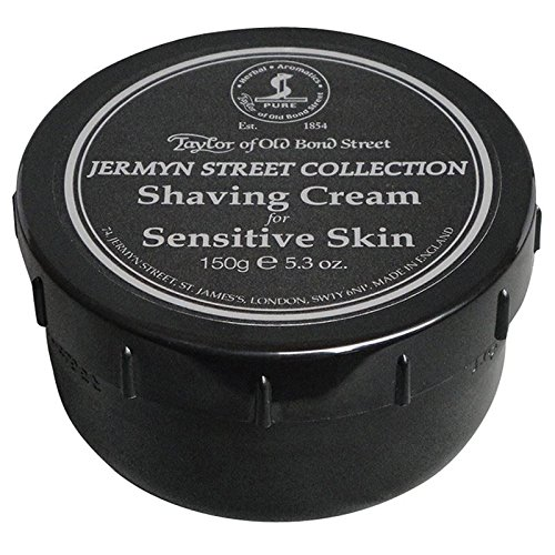Taylor of Old Bond Street Shaving Cream Sensitive Skin 150g - Pack of 6 by Taylor of Old Bond Street