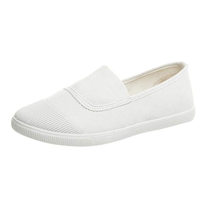 Zapatos De Punta Redonda Para Mujer Mocasines Casuales SóLidos Zapatos De Lona Solteros Doug: Amazon.es: Ropa y accesorios