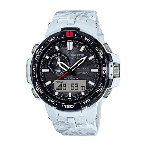 Casio Mens Pro Trek TRIPLE SENSOR Digital Sport Solar Watch (Imported) (Solar Triple Sensor Watch)