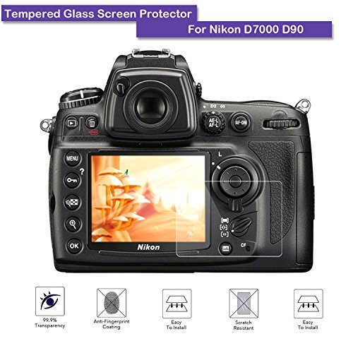 Nikon D7000 D90 D300 D700 Tempered Glass Screen Protector - MOTONG LCD Screen protector for Nikon D7000 D90 D300 D700,9 H Hardness,0.3mm Thickness,Made From Real Glass
