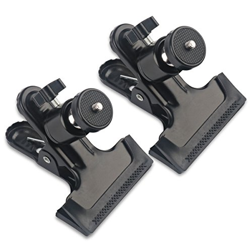 "Price comparison product image MDW 2 Pcs tripod Clip Clamp Mount for HTC Vive/VIVE Pro,for Oculus Rift with 360 Swivel Tripod Mini Ball Head standard 1/4"" Screw ,SLR, Digital SLR, Video came"