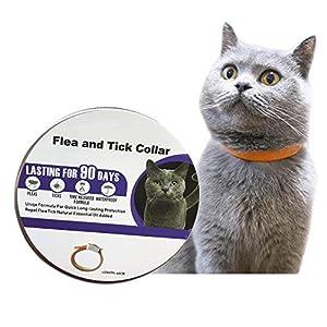 Collar Antiparasitos Perros/Gatos contra Pulgas,Garrapatas y Mosquitos,Tamaño Ajustable e Impermeable para Mascota Pequeño Mediano Grandes
