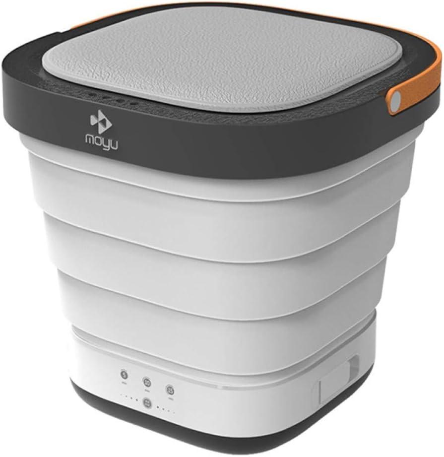 XHCP Portable Washing Machine Mini Semi-Automatic Washing Machine, Travel Camping ,USB Laundry Cleaner Telescopic ,Vegetable Fruit Portable,Grey