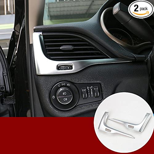 FOR jeep Cherokee 2014-2020 ABS Chrome dashboard air outlets vent cover trim 2pc