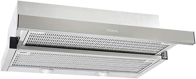 Teka CNL 6415 Extensible | Modelo CNL6415 | Campana Extraible con 2 lamparas | 2 velocidades + intensiva | Color Blanco, 64 Decibelios, Acero Inoxidable: Amazon.es: Hogar